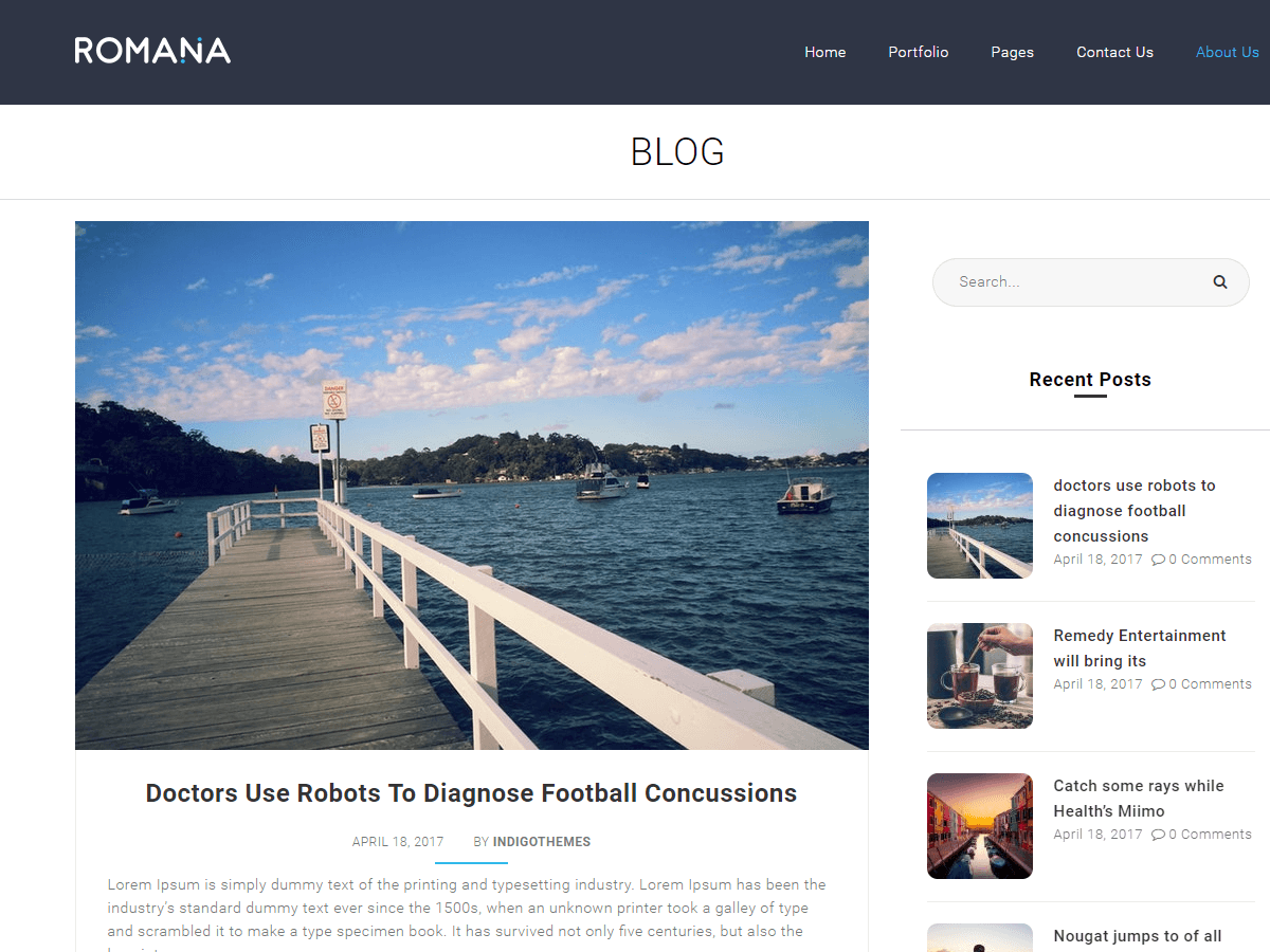 Romana Preview Wordpress Theme - Rating, Reviews, Preview, Demo & Download