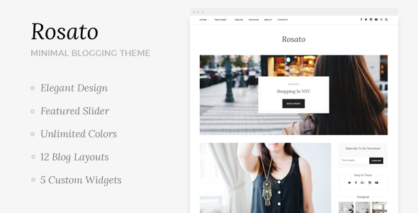 Rosato Preview Wordpress Theme - Rating, Reviews, Preview, Demo & Download