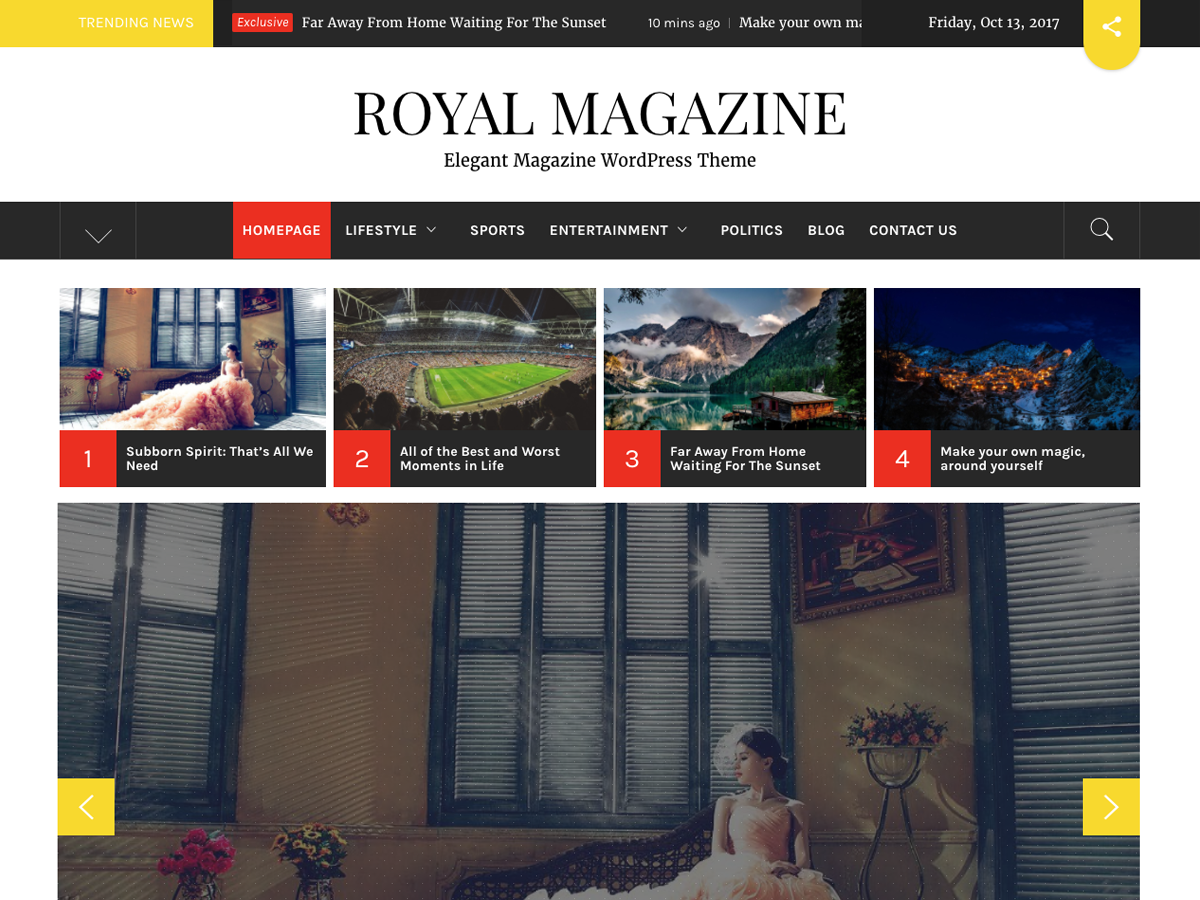 Royal Magazine Preview Wordpress Theme - Rating, Reviews, Preview, Demo & Download