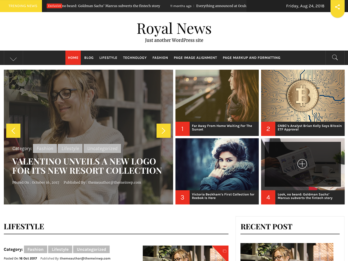 Royal News Preview Wordpress Theme - Rating, Reviews, Preview, Demo & Download