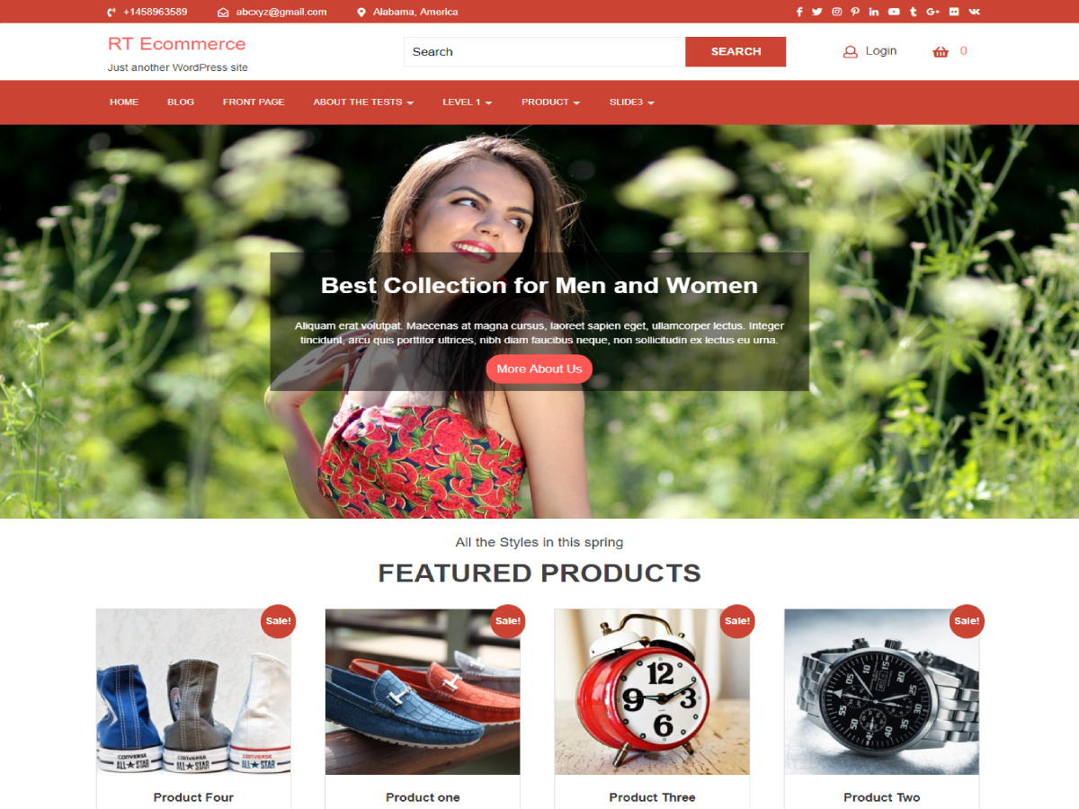 RT Ecommerce Preview Wordpress Theme - Rating, Reviews, Preview, Demo & Download