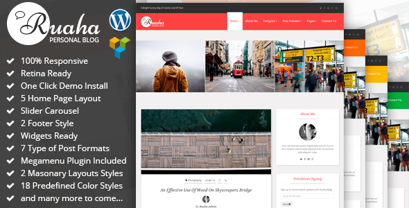 Ruaha Preview Wordpress Theme - Rating, Reviews, Preview, Demo & Download