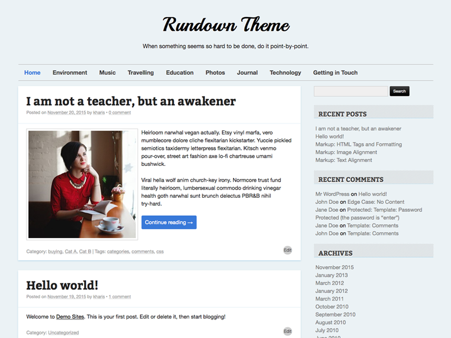 Rundown Preview Wordpress Theme - Rating, Reviews, Preview, Demo & Download