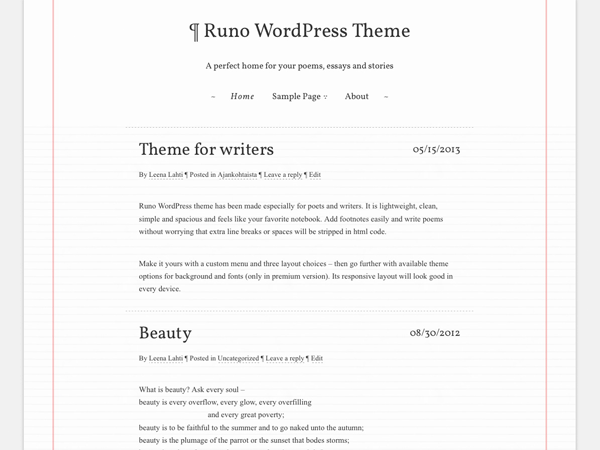 Runo Lite Preview Wordpress Theme - Rating, Reviews, Preview, Demo & Download