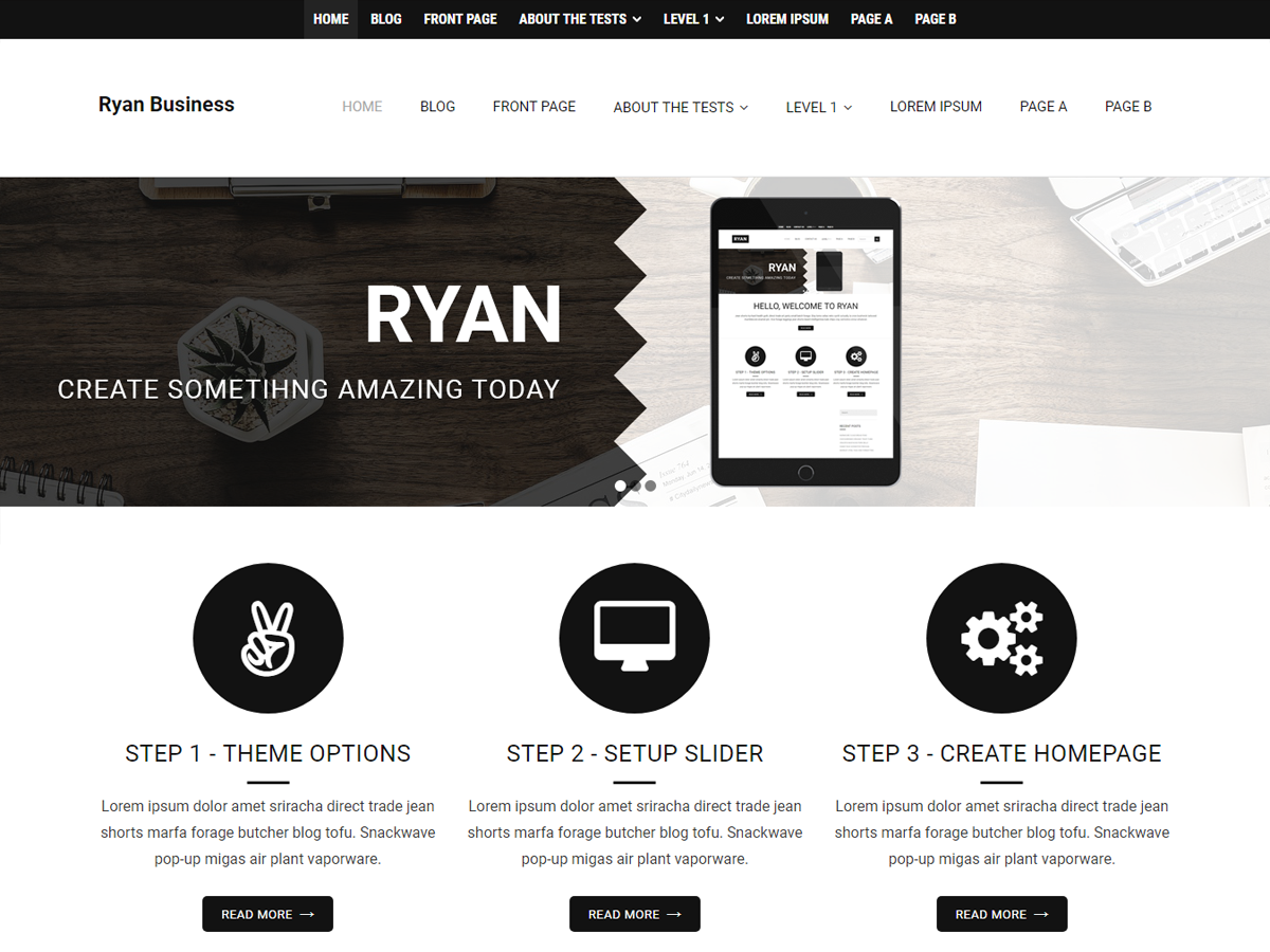 Ryan Business Preview Wordpress Theme - Rating, Reviews, Preview, Demo & Download
