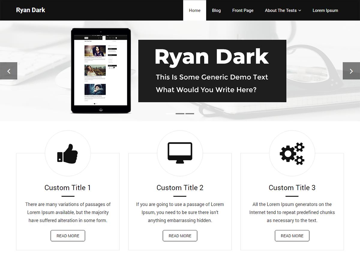 Ryan Dark Preview Wordpress Theme - Rating, Reviews, Preview, Demo & Download