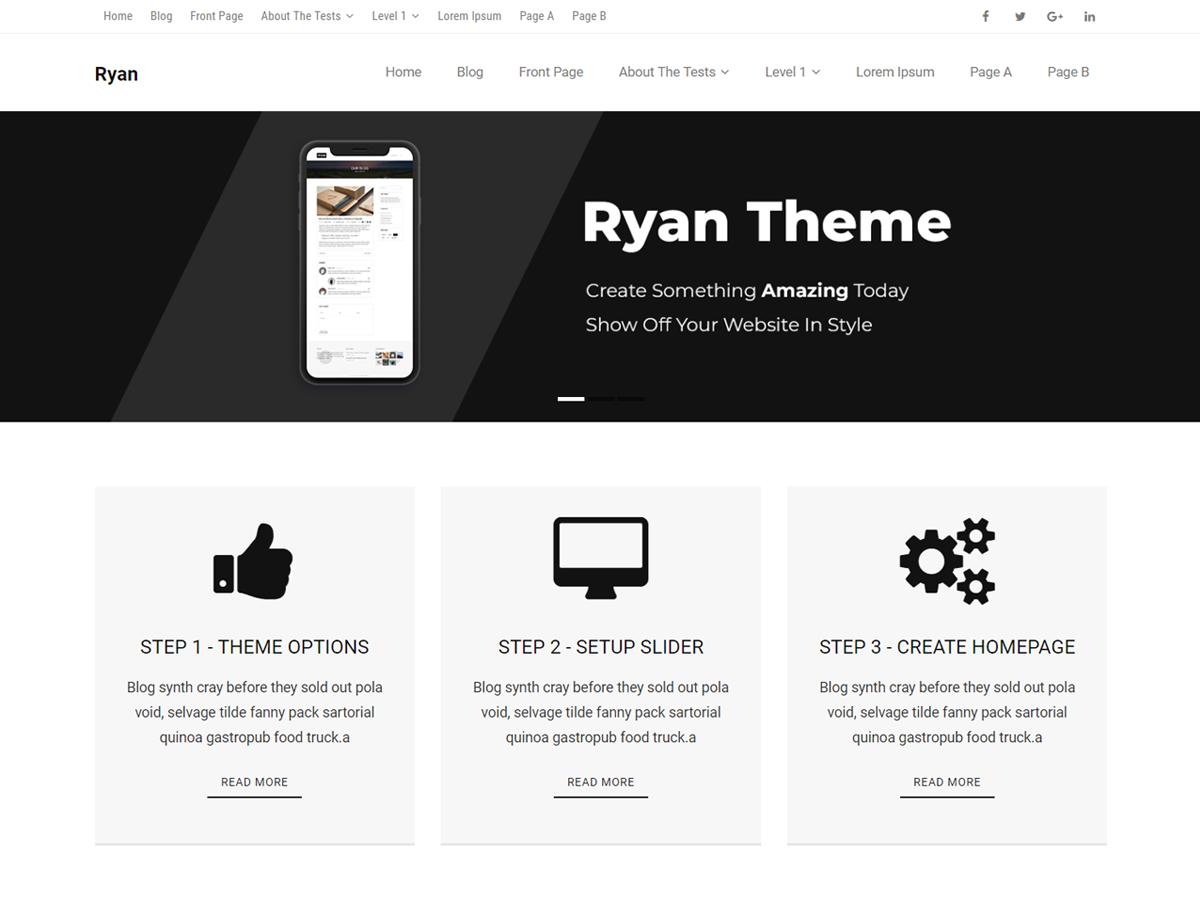 Ryan Magazine Preview Wordpress Theme - Rating, Reviews, Preview, Demo & Download
