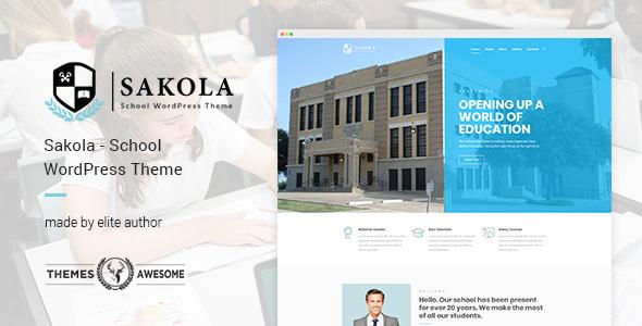 Sakola Preview Wordpress Theme - Rating, Reviews, Preview, Demo & Download