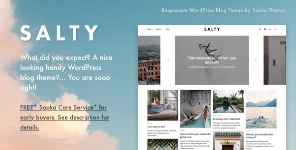Salty Preview Wordpress Theme - Rating, Reviews, Preview, Demo & Download