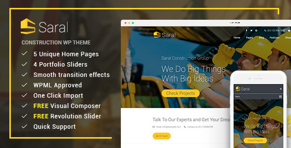 Saral Preview Wordpress Theme - Rating, Reviews, Preview, Demo & Download