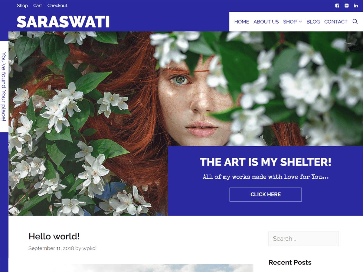 Saraswati Preview Wordpress Theme - Rating, Reviews, Preview, Demo & Download