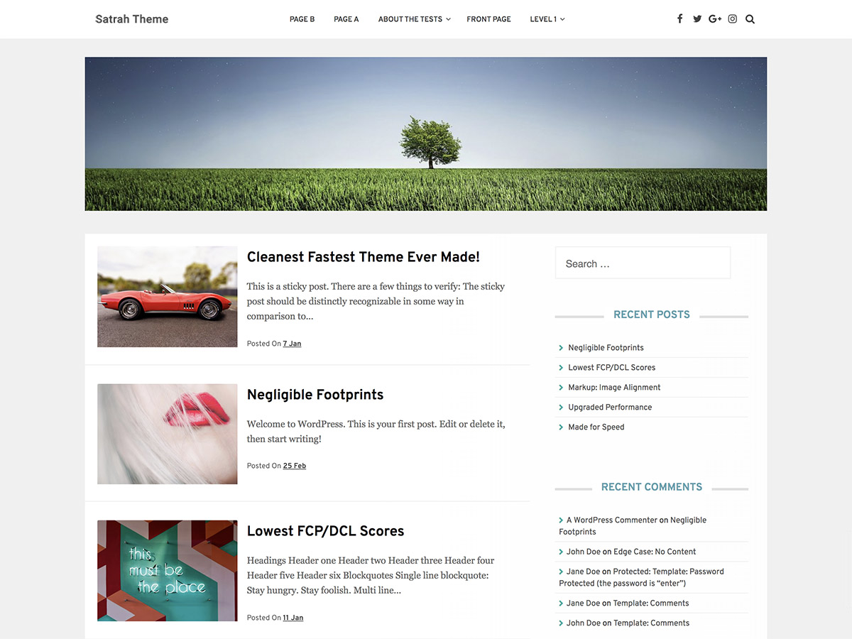 Satrah Preview Wordpress Theme - Rating, Reviews, Preview, Demo & Download