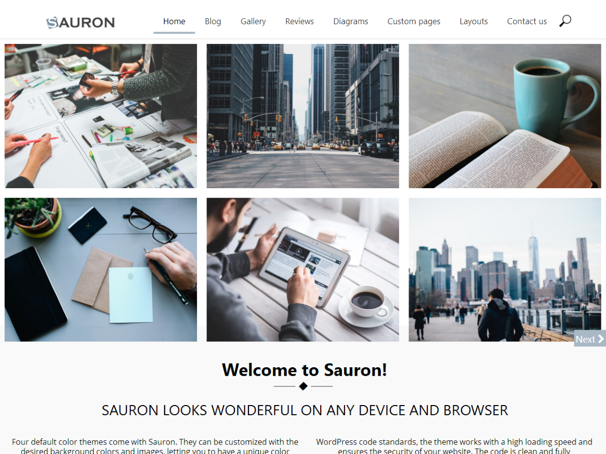 Sauron Preview Wordpress Theme - Rating, Reviews, Preview, Demo & Download