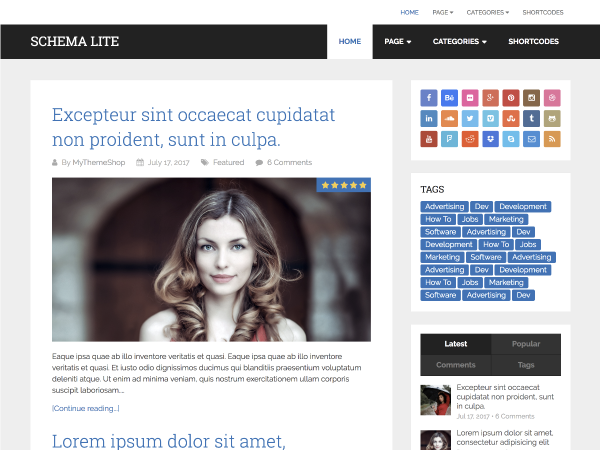 Schema Lite Preview Wordpress Theme - Rating, Reviews, Preview, Demo & Download