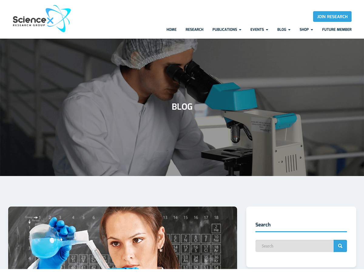 Sciencex Lite Preview Wordpress Theme - Rating, Reviews, Preview, Demo & Download