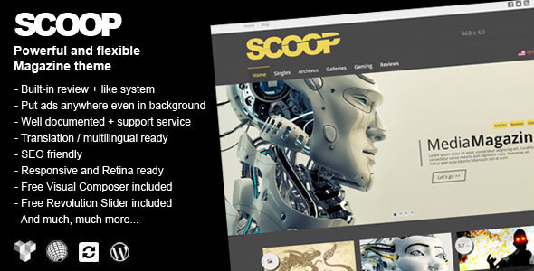 Scoop Preview Wordpress Theme - Rating, Reviews, Preview, Demo & Download