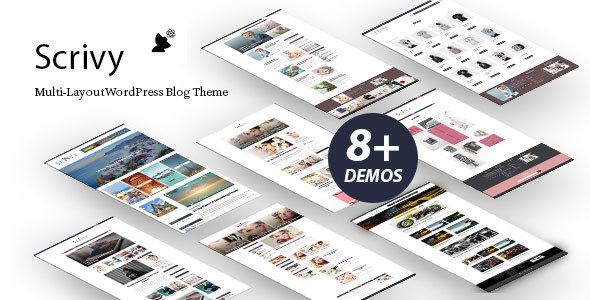 Scrivy Preview Wordpress Theme - Rating, Reviews, Preview, Demo & Download