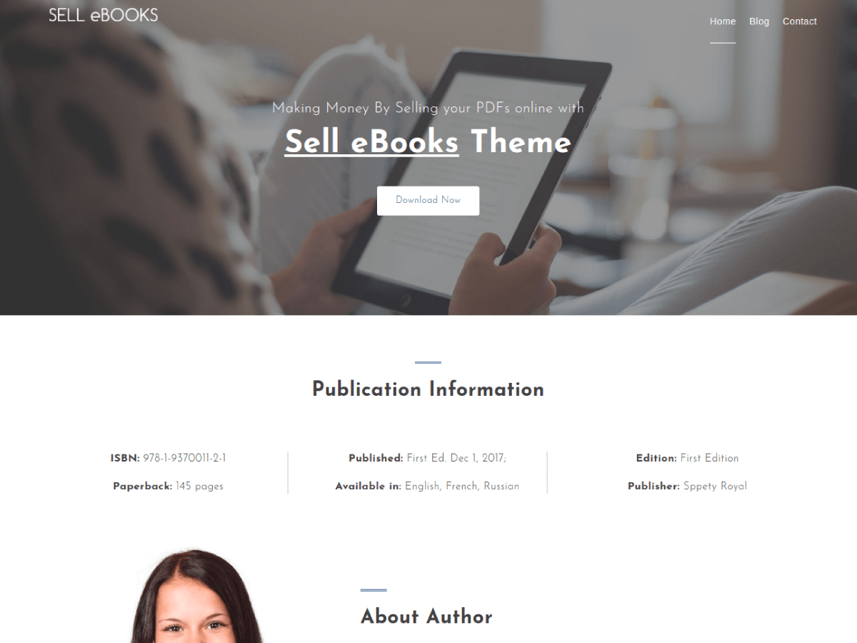 Sell EBooks Preview Wordpress Theme - Rating, Reviews, Preview, Demo & Download