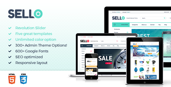 Sello Preview Wordpress Theme - Rating, Reviews, Preview, Demo & Download