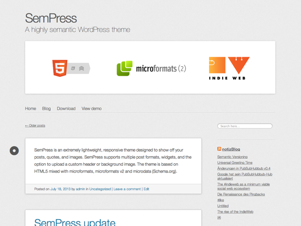 SemPress Preview Wordpress Theme - Rating, Reviews, Preview, Demo & Download