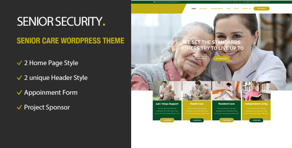 Senior Security Preview Wordpress Theme - Rating, Reviews, Preview, Demo & Download