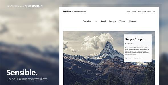 Sensible Preview Wordpress Theme - Rating, Reviews, Preview, Demo & Download