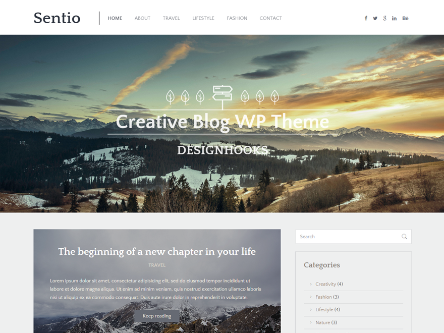 Sentio Preview Wordpress Theme - Rating, Reviews, Preview, Demo & Download