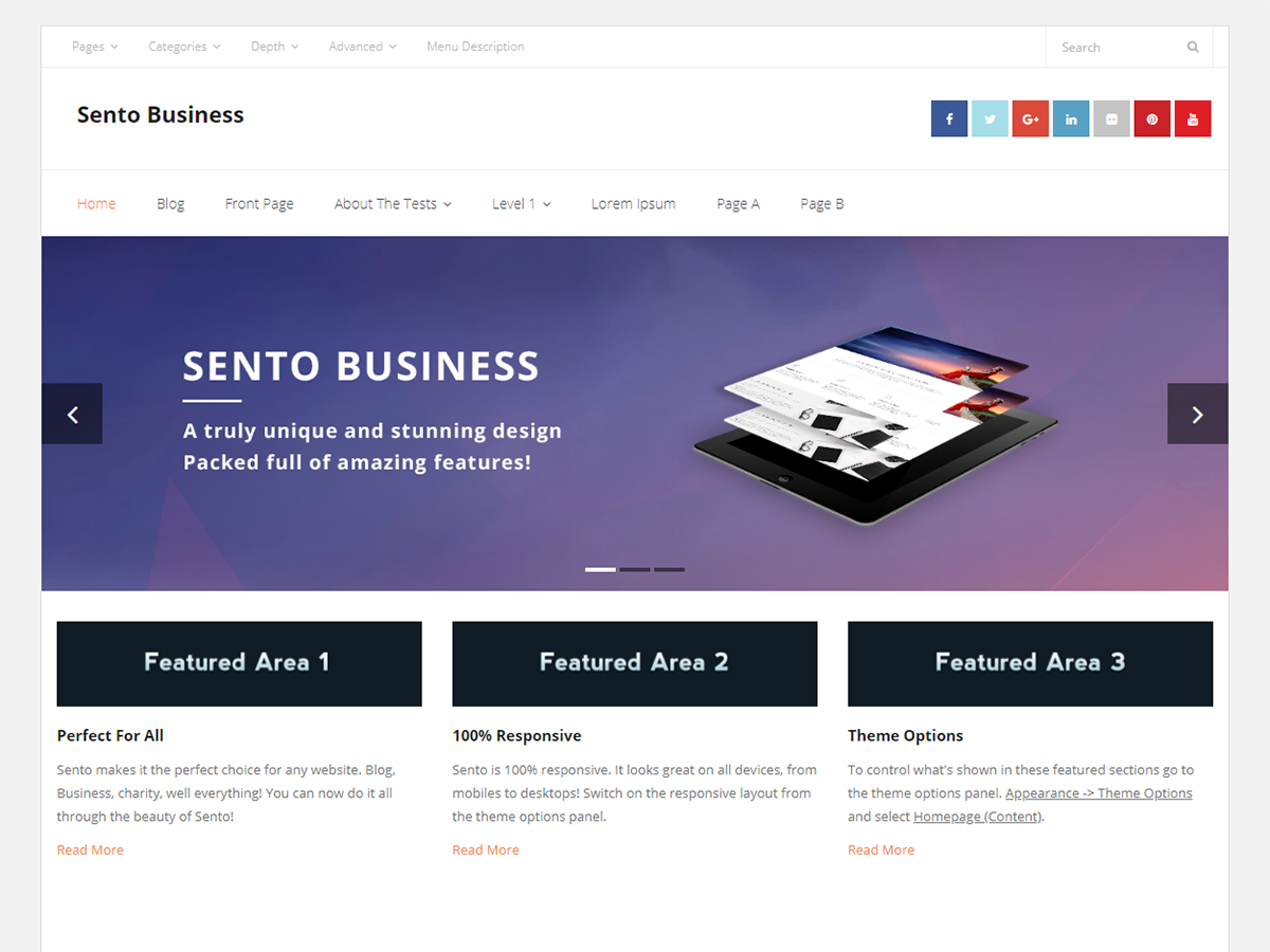 Sento Business Preview Wordpress Theme - Rating, Reviews, Preview, Demo & Download