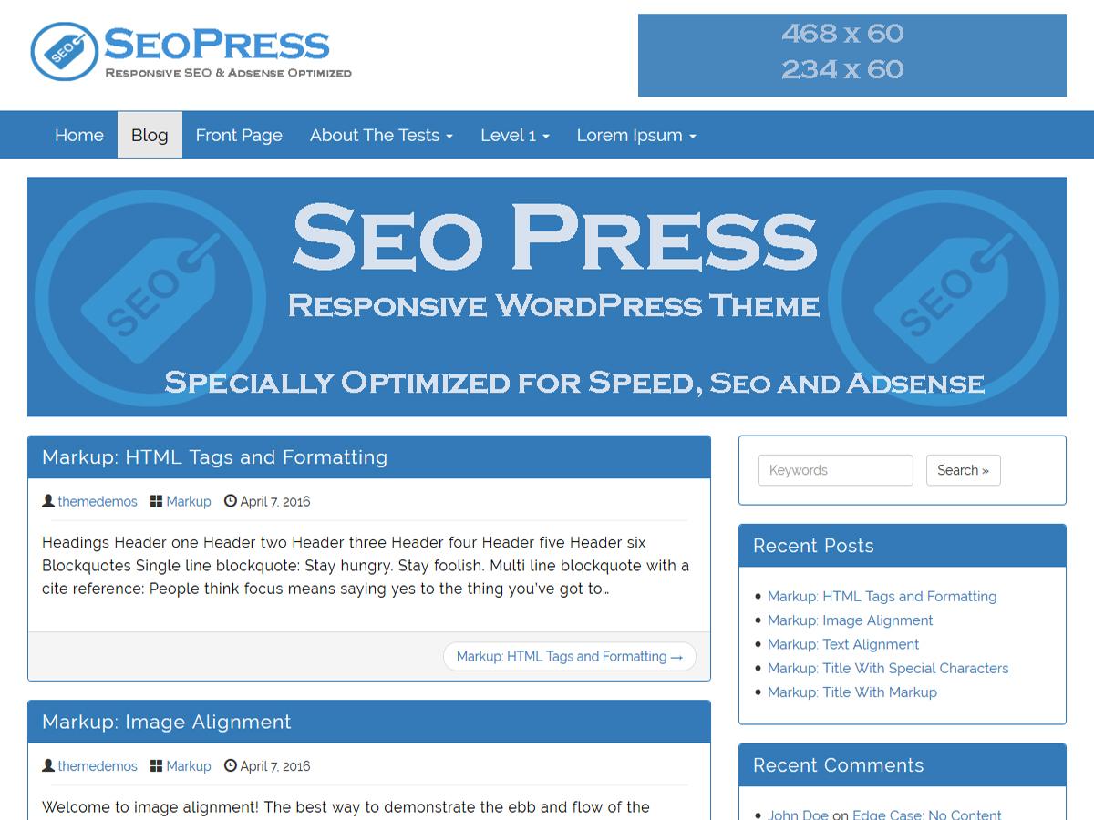 SEOPress Preview Wordpress Theme - Rating, Reviews, Preview, Demo & Download