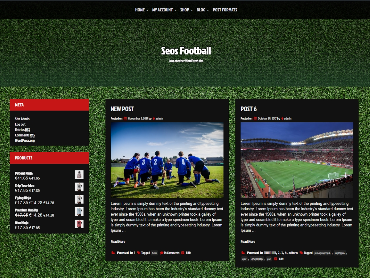 Seos Football Preview Wordpress Theme - Rating, Reviews, Preview, Demo & Download