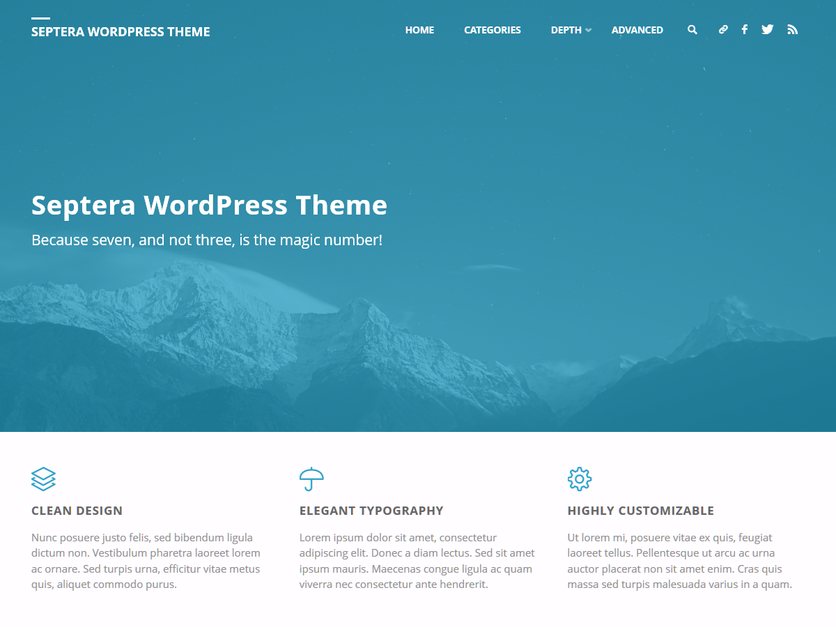 Septera Preview Wordpress Theme - Rating, Reviews, Preview, Demo & Download