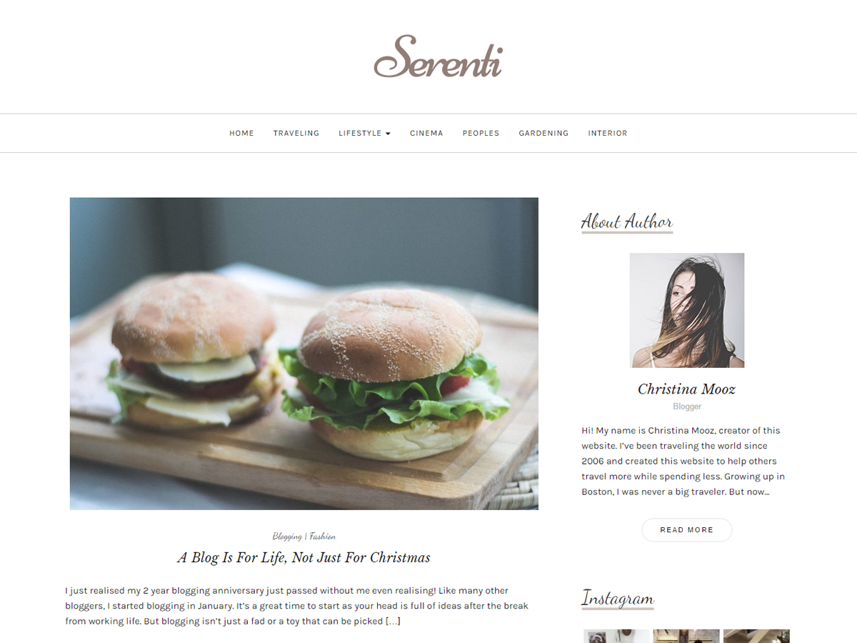 Serenti Preview Wordpress Theme - Rating, Reviews, Preview, Demo & Download