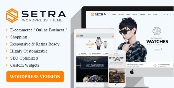 Setra WooCommerce Preview Wordpress Theme - Rating, Reviews, Preview, Demo & Download