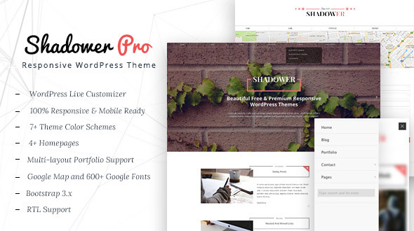 Shadower Pro Preview Wordpress Theme - Rating, Reviews, Preview, Demo & Download