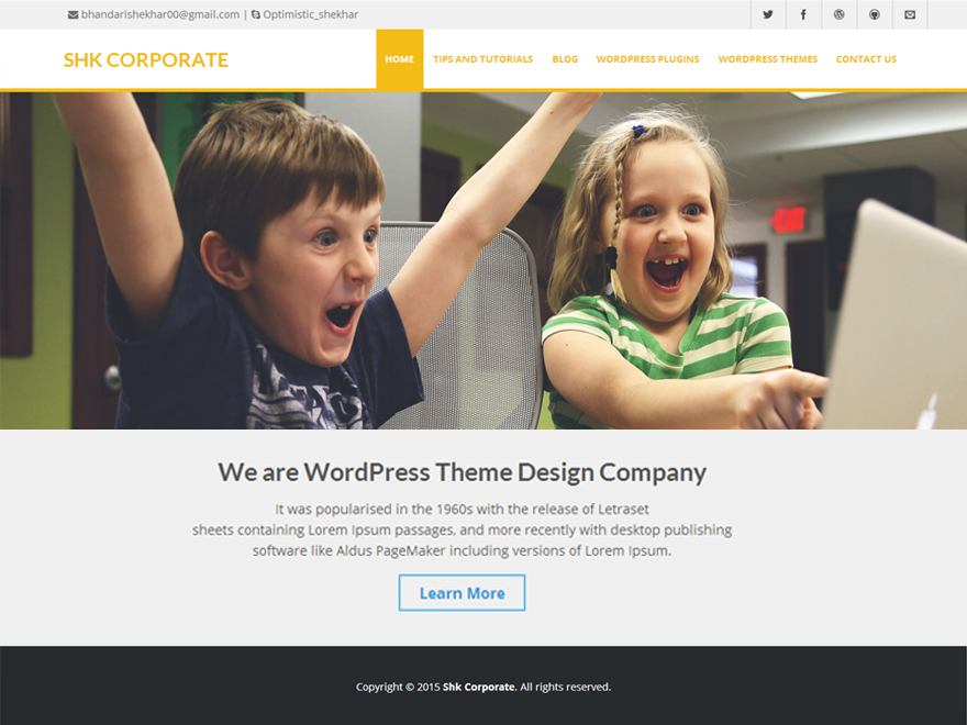 Shk Corporate Preview Wordpress Theme - Rating, Reviews, Preview, Demo & Download
