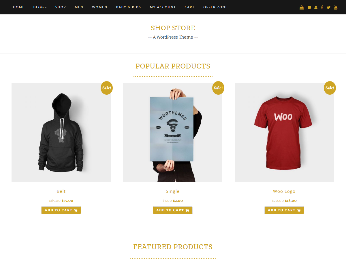 Shop Store Preview Wordpress Theme - Rating, Reviews, Preview, Demo & Download