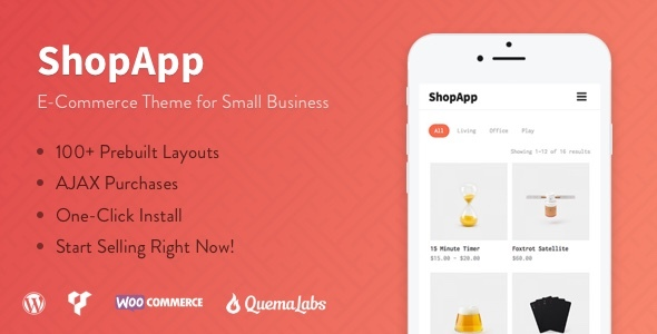ShopApp Preview Wordpress Theme - Rating, Reviews, Preview, Demo & Download