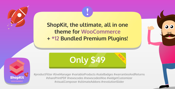 ShopKit Preview Wordpress Theme - Rating, Reviews, Preview, Demo & Download