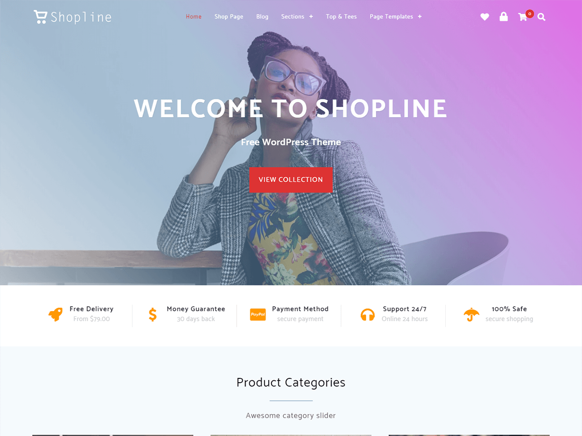 Shopline Preview Wordpress Theme - Rating, Reviews, Preview, Demo & Download
