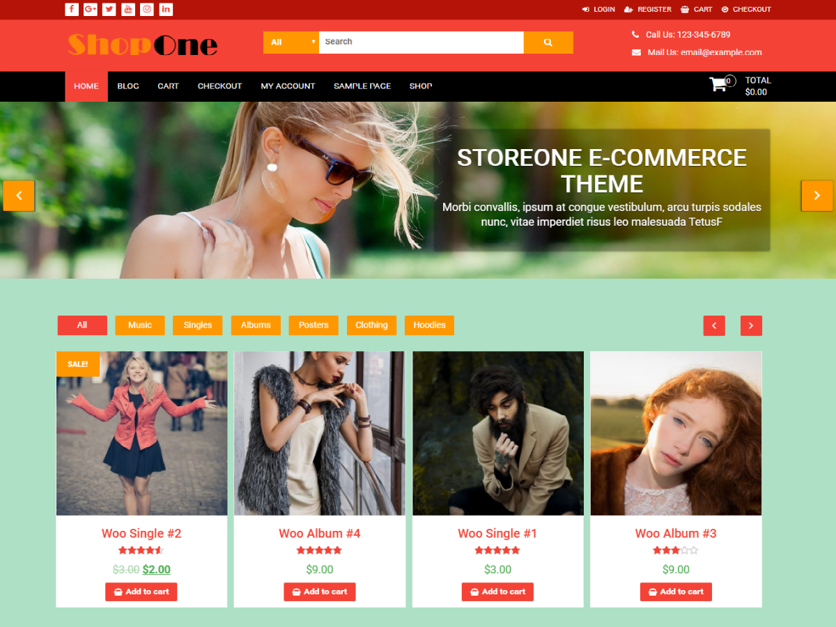 ShopOne Preview Wordpress Theme - Rating, Reviews, Preview, Demo & Download