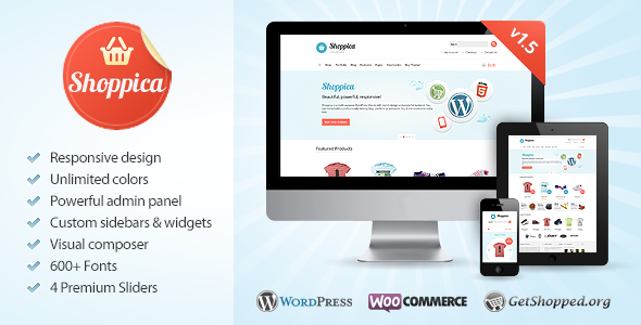 Shoppica Preview Wordpress Theme - Rating, Reviews, Preview, Demo & Download