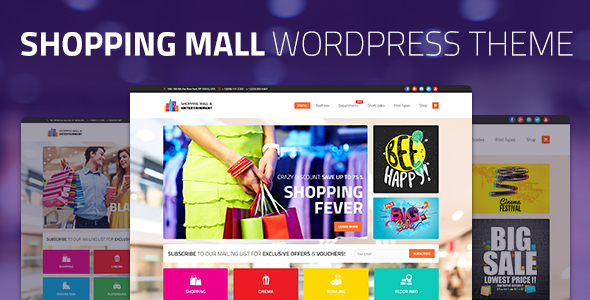 Shopping Mall Preview Wordpress Theme - Rating, Reviews, Preview, Demo & Download