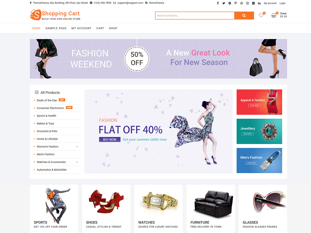 ShoppingCart Preview Wordpress Theme - Rating, Reviews, Preview, Demo & Download