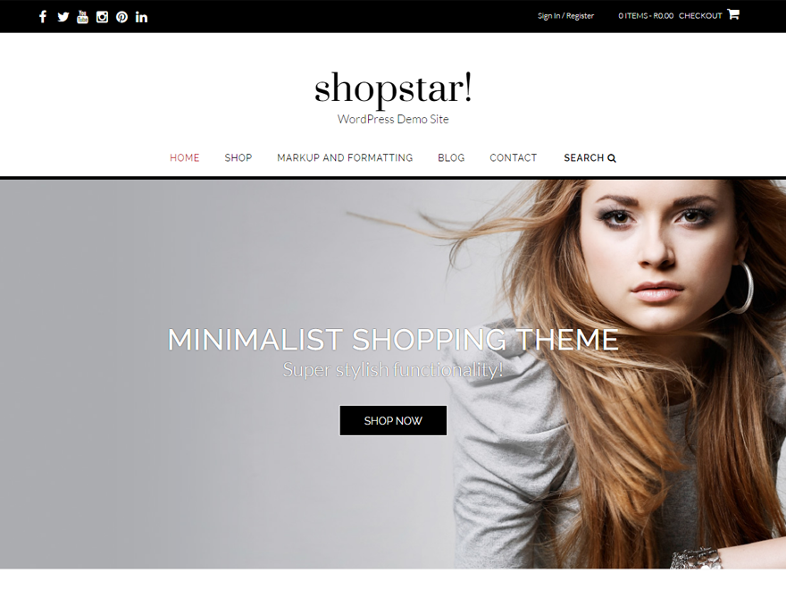 Shopstar Preview Wordpress Theme - Rating, Reviews, Preview, Demo & Download