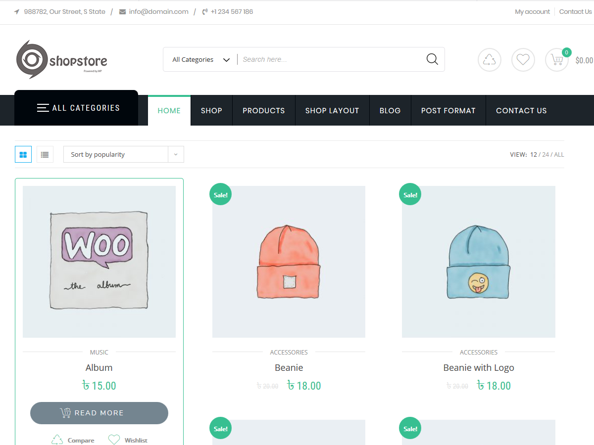 Shopstore Preview Wordpress Theme - Rating, Reviews, Preview, Demo & Download