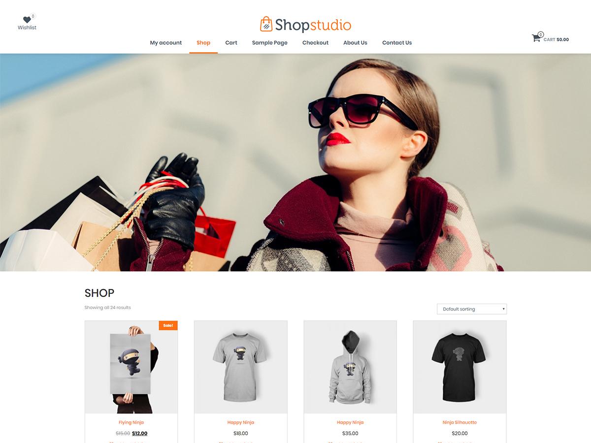 Shopstudio Preview Wordpress Theme - Rating, Reviews, Preview, Demo & Download