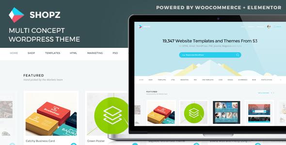 Shopz Preview Wordpress Theme - Rating, Reviews, Preview, Demo & Download