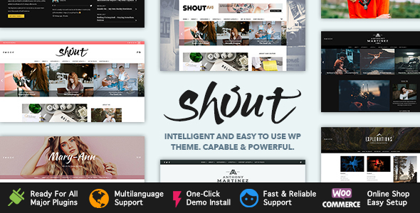 Shout Preview Wordpress Theme - Rating, Reviews, Preview, Demo & Download