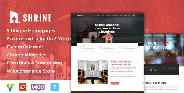 Shrine Preview Wordpress Theme - Rating, Reviews, Preview, Demo & Download