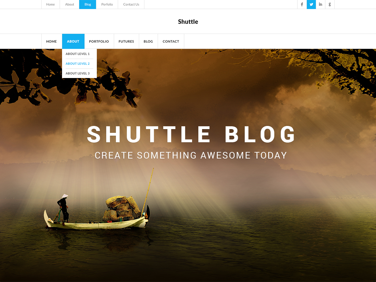 Shuttle Blog Preview Wordpress Theme - Rating, Reviews, Preview, Demo & Download